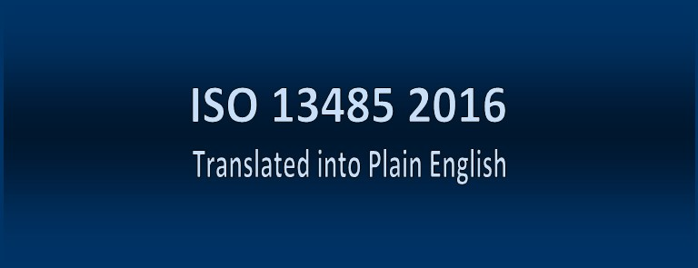 ISO 13485 2016 in Plain English - Table of Contents