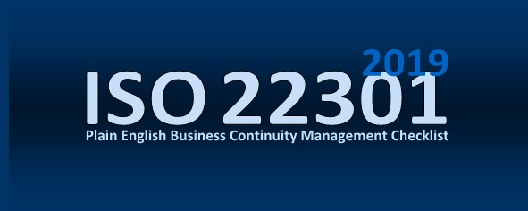 Plain English ISO 22301 2012 Business Continuity Checklist