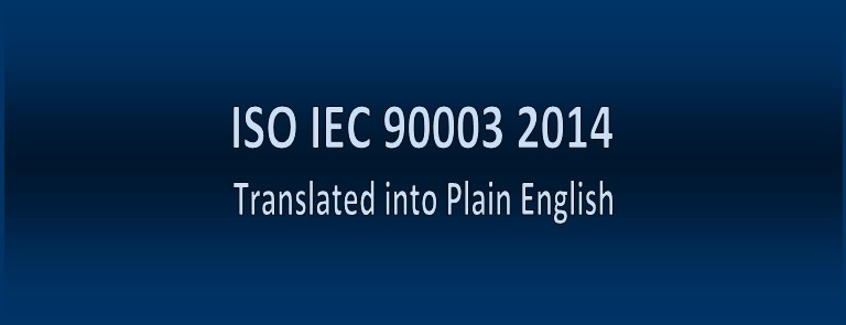ISO IEC 90003 2014 Translated into Plain English