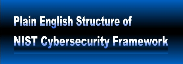 NIST           Cybersecurity Structure